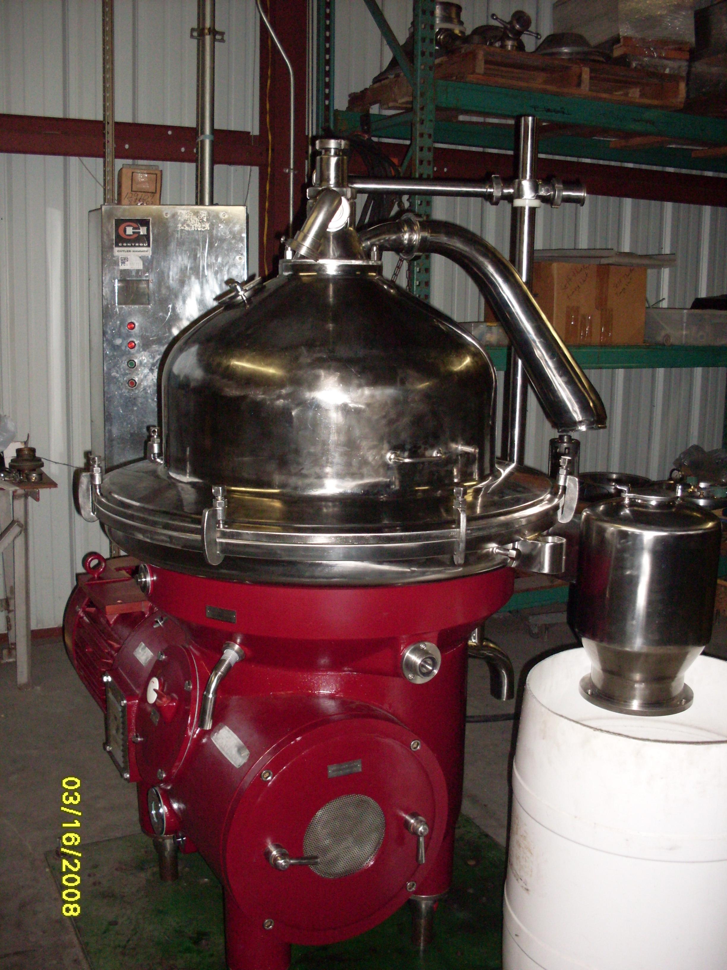 Westfalia RSA150-01 refining separator centrifuge
