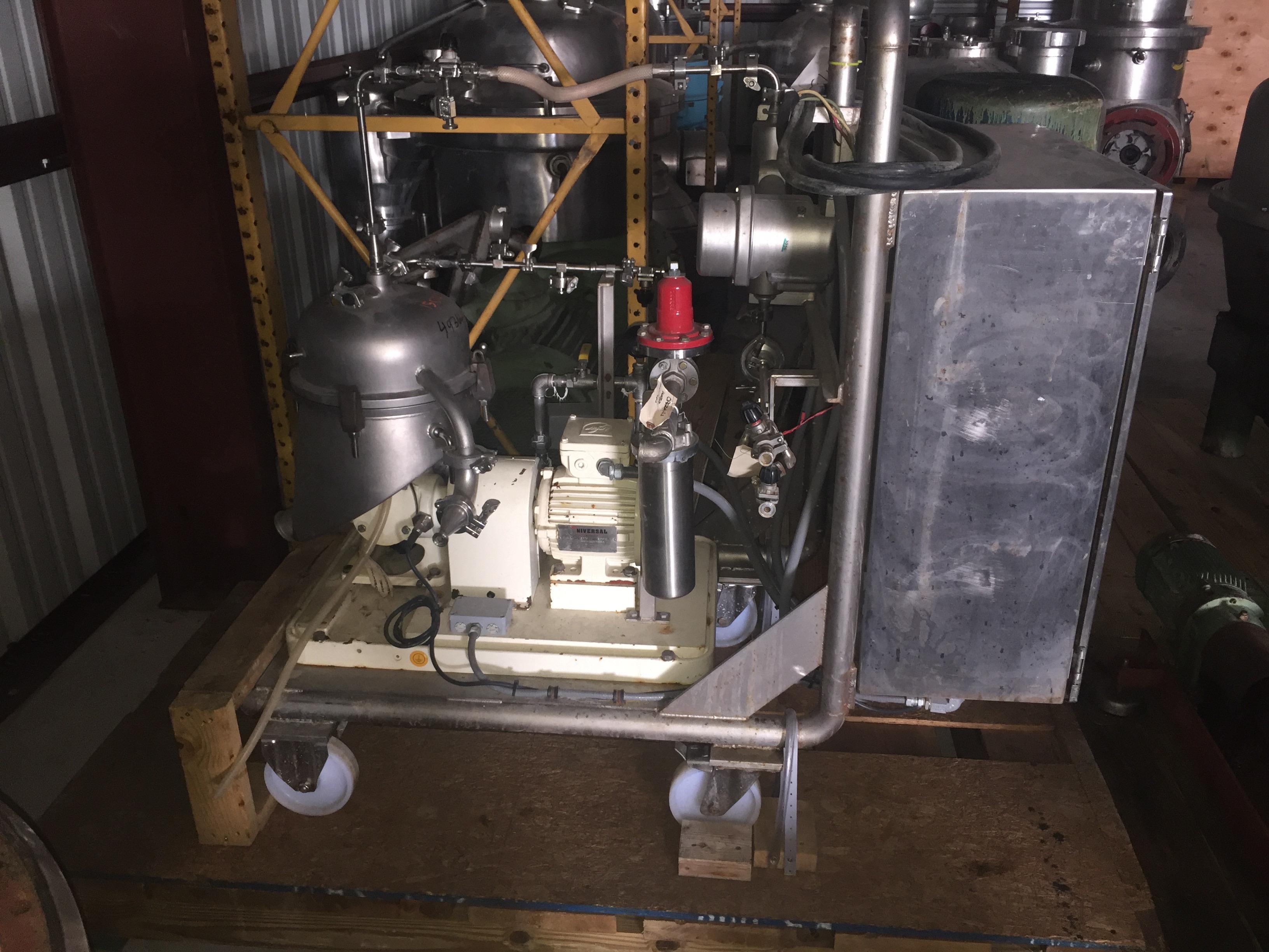 Westfalia SA-1-02 pilot-size self-cleaning disk-stack centrifuge