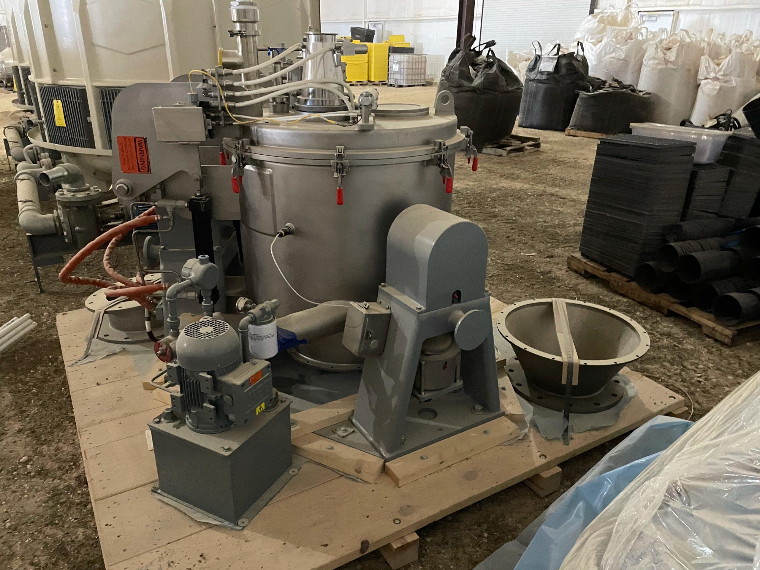 Western States Q-120 perforate basket centrifuges